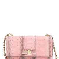Salvatore Ferragamo 'Ginny' Genuine Snakeskin Shoulder Bag