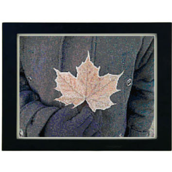 Frozen Leaf Cross Stitch Pattern