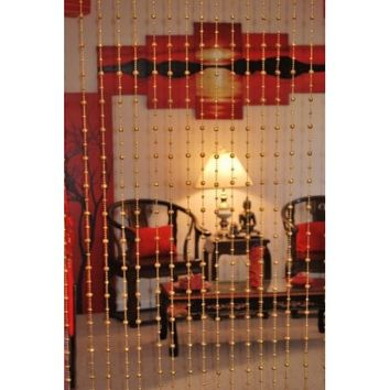 Beautiful Acrylic Beaded Curtain - Golden Balls - Walmart.com