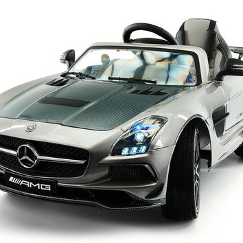 MERCEDES BENZ SLS  RIDE-ON TOY CAR WITH PARENTAL REMOTE MP4   GREY