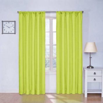 "Eclipse Kids Kendall Blackout Window Curtain Panel, Lime, 42"" x 63"""