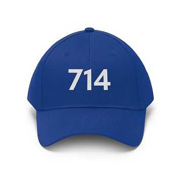 California 714 Area Code Embroidered Twill Hat