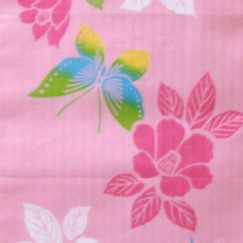 CLEARANCE OFFER - Butterfly Vintage Japanese cotton kimono fabric