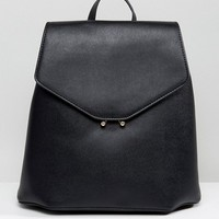 Mango Clean Faux Leather Back Pack at asos.com