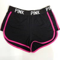 PINK Victoria'S Secret Fashion Fitness Running Sweatpants Shorts