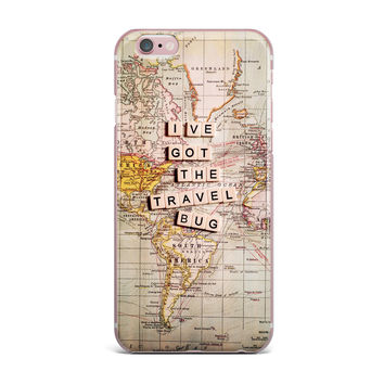 "Sylvia Cook ""Travel Bug"" Map iPhone Case"
