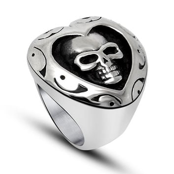 Gift Shiny New Arrival Jewelry Stainless Steel Fashion Stylish Strong Character Style A4 Size Ring [6544852739]