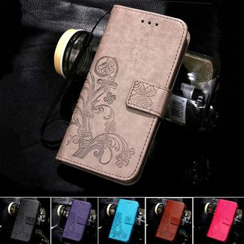 For iPhone 7 6 6S Plus SE 5S 5 Leather Flip Case For Samsung Galaxy S7 S6 edge A3 A5 J3 J5 J7 J1 S5 S4 S3 Mini Grand Prime Cover