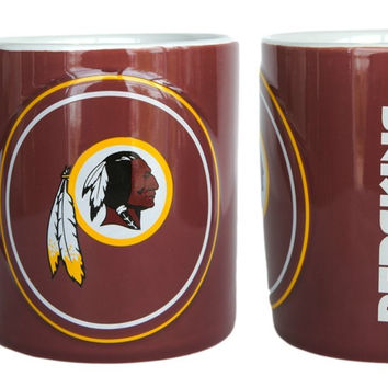 Washington Redskins 14oz Sculpted Warm Up Coffee Mug
