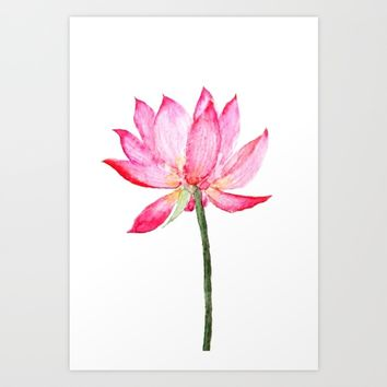 pink lotus flower Art Print by Color and Color