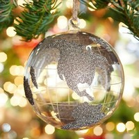 Glass Glitter Globe Ornament