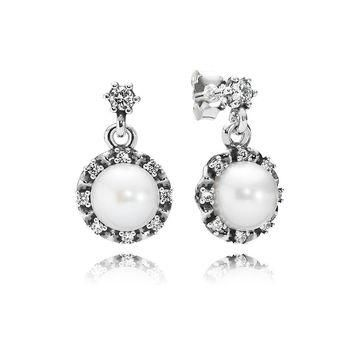 PANDORA Everlasting Grace Pearl Earrings