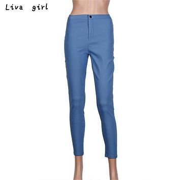 2017 Women Denim Jeans New Fashion Multi Colors Girl Casual Jeans Pants Female High Wirst Skinny Pencil Pants Femme Slim Jeans