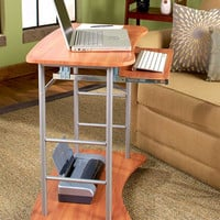 Rolling Computer Desk Cart Table Stand Portable Home Office Work Space Saver NEW