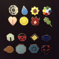 Pokemon Kanto And Johto Badge Sets
