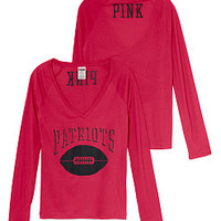 New England Patriots Long Sleeve Tee - PINK - Victoria's Secret