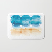 Sand and Surf Bath Mat by noondaydesign