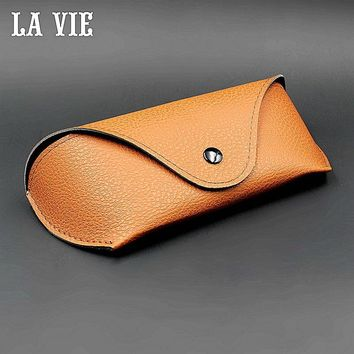 Durable PU Leather Professional Glasses Case Vintage Sunglasses Eyeglasses Storage Holder Retro Box Cases Zeiss Lens Wipe