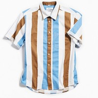 UO Striped Short Sleeve Button-Down Shirt | Urban Outfitters