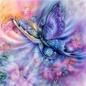 Colorful butterfly picture cross stitch Needlework diamond mosaic Diy 5D diamond Painting Full diamond embroidery Home Decor