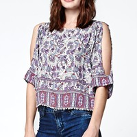 Rip Curl Skyla Print Top - Womens Shirts - Multi