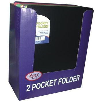 Two Pocket Folders - Plastic - 3 hole punched.