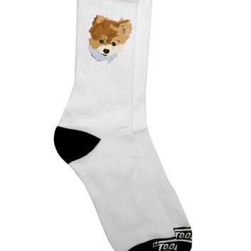 Custom Pet Art Adult Crew Socks  by TooLoud
