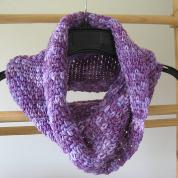 Purple Crochet Cowl