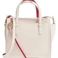 Salvatore Ferragamo Gancio Small Bicolor Leather Tote | Nordstrom