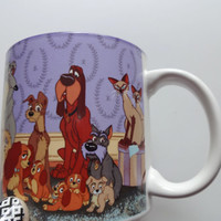 Vintage Walt Disney Lady and the Tramp Coffee Mug 1995