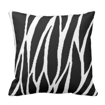 16 X 16 ZEBRA STRIPES THROW PILLOW