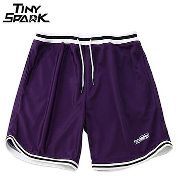 Baggy Hip Hop Short Men Shorts Loose Elastic Waist Stripe Shorts Street wear Casual Track Sweat pant
