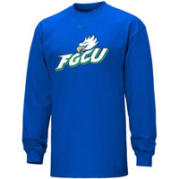 Nike Florida Gulf Coast Eagles Logo Classic Long Sleeve T-Shirt - Royal Blue
