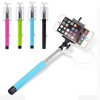 Wired Selfie Stick Handheld Monopod Built-in Shutter Extendable = 1945717700