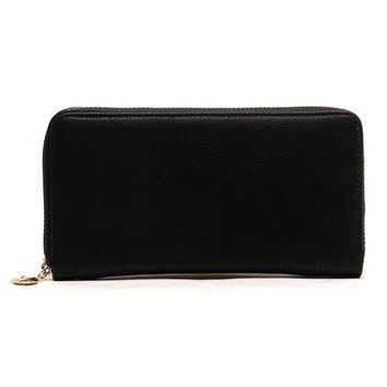 Vegan Single Zip Around Wallet/Wristlet (Multiple Colors Available)