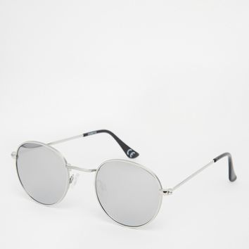 ASOS Metal Round Sunglasses With Mirrored Lens In Silver