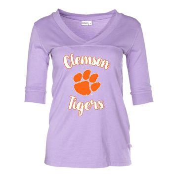 1ebfb57f Official NCAA Clemson Tigers - RYLCL02 Women's 3/4 Sleeve Fitted