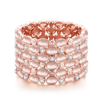 18K Rose Gold Classic Bangle with Swarovski Elements