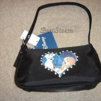 Licensed cool Disney DOGS Lady & the Tramp Movie Handbag Purse Bag Spaghetti Table Scene NWT