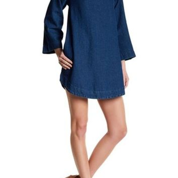 Rolla's | Liberty Mock Neck Denim Dress | Nordstrom Rack