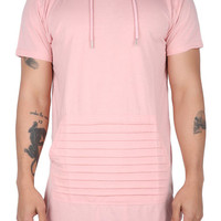 The Flash Short Sleeve Hoodie in Pink