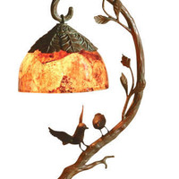 Michigan Design Center - Maitland-Smith - Desk Lamp with Birds and Penshell Shade