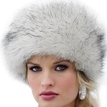Fluffy Faux Fox Fur Hat, Russian Beanie, Fur Cap, Warm Fur Hat