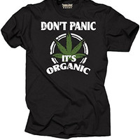 Don't Panic It's Organic Fashion Weed T-shirt 100% Cotton