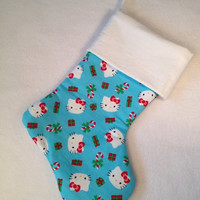 Christmas clearance Cute adorable Kitty cat Christmas stocking
