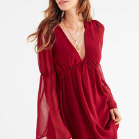Lucca Couture Empire Waist Bell-Sleeve Dress   Urban Outfitters