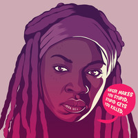 THE WALKING DEAD - Michonne Art Print by Mike Wrobel