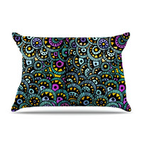 """Pom Graphic Design """"Peacock Tail"""" Pillow Case"""