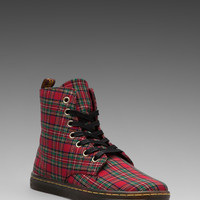 Dr. Martens Hackney 7-Eye Boot in Red Stewart from REVOLVEclothing.com
