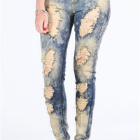 Rhett Bleach Washed Ripped Skinny Jean